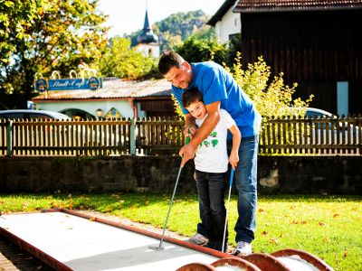 Minigolfen in Pottenstein